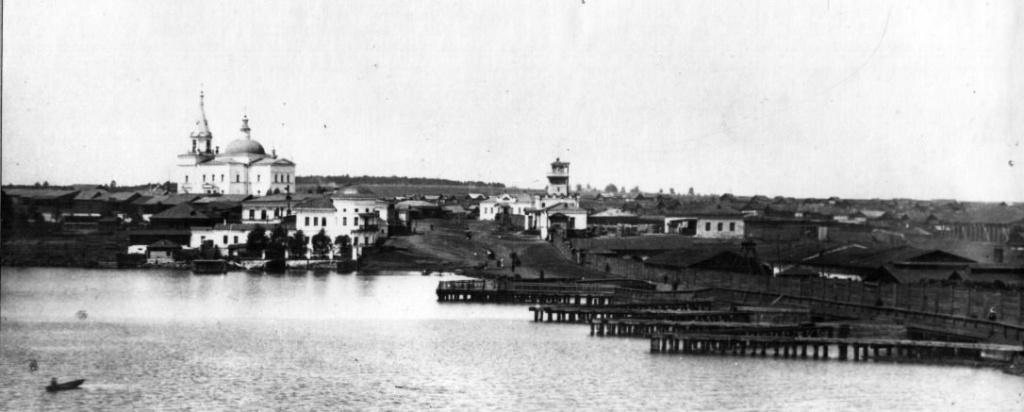 Один из самых старых видов Режа. Фото 1880 года, пруд и плотина. У плотины хорошо видны массивные ледорезы
