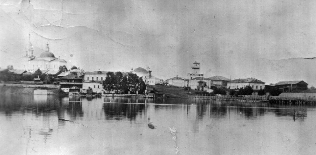 Режевской пруд. Вид на левобережье. Фото начала XX века
