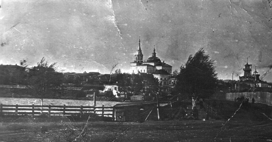 Вид на Режевскую плотину в начале XX века