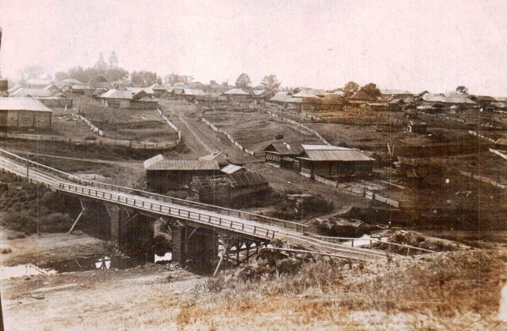 Село Глинское в середине XX века