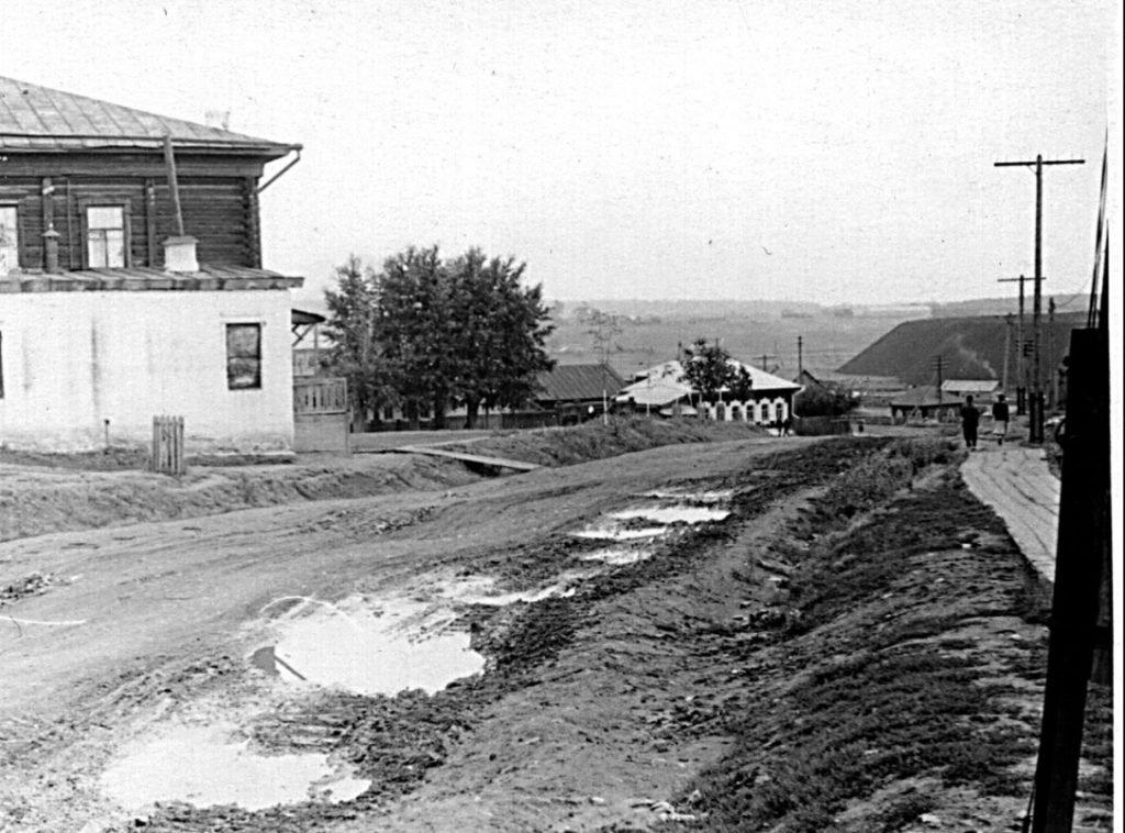 Режевские дороги и дощатые тротуары в 1950-е годы