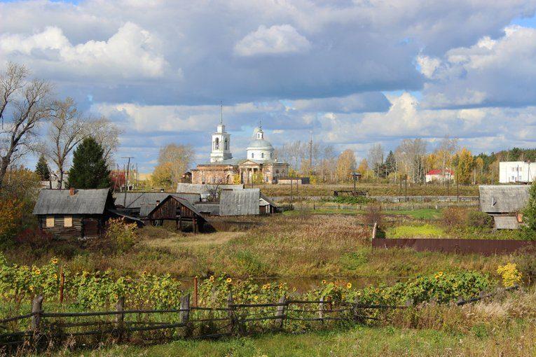 Пейзаж с Липовским храмом