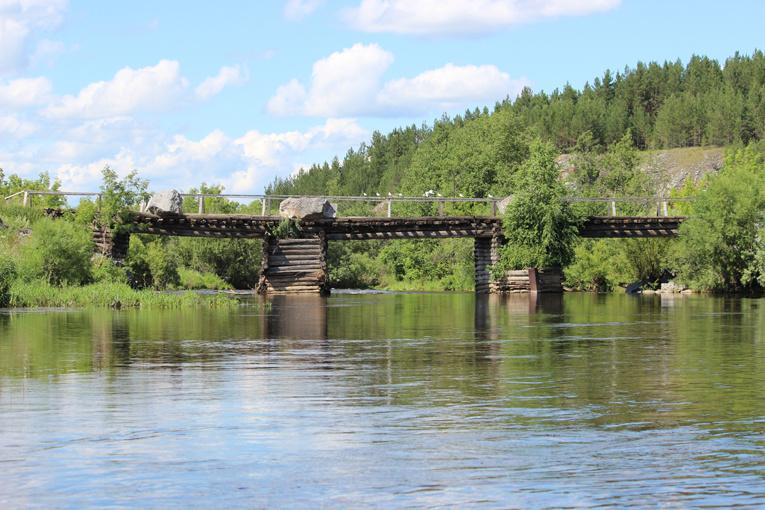 Першинский мост через реку Реж