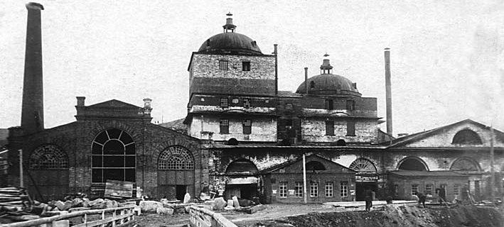 Доменный корпус Режевского завода. Фото 1930-х годов