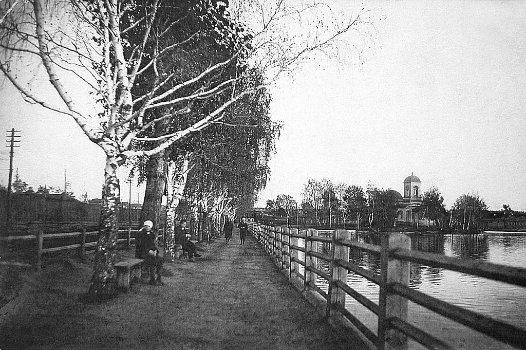 Режевская плотина в середине 20 века