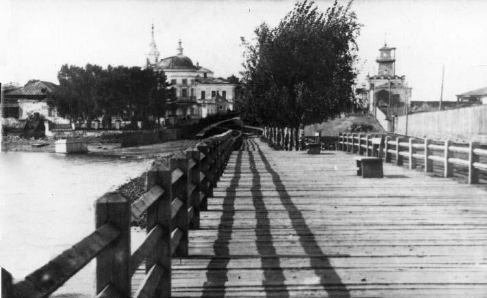 Плотина Режевского завода в начале 20 века