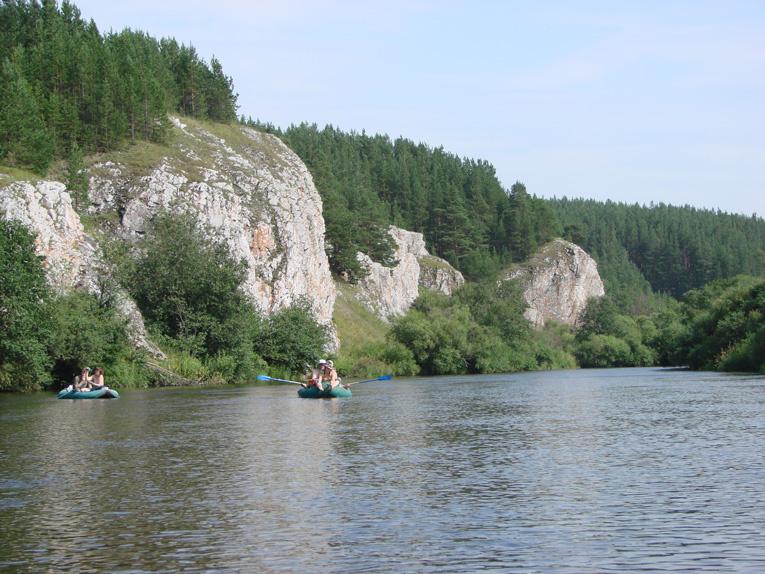 Береговые скалы реки Реж: Першинские скалы
