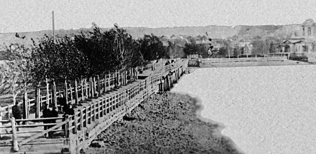 Плотина Режевского пруда в начале XX века