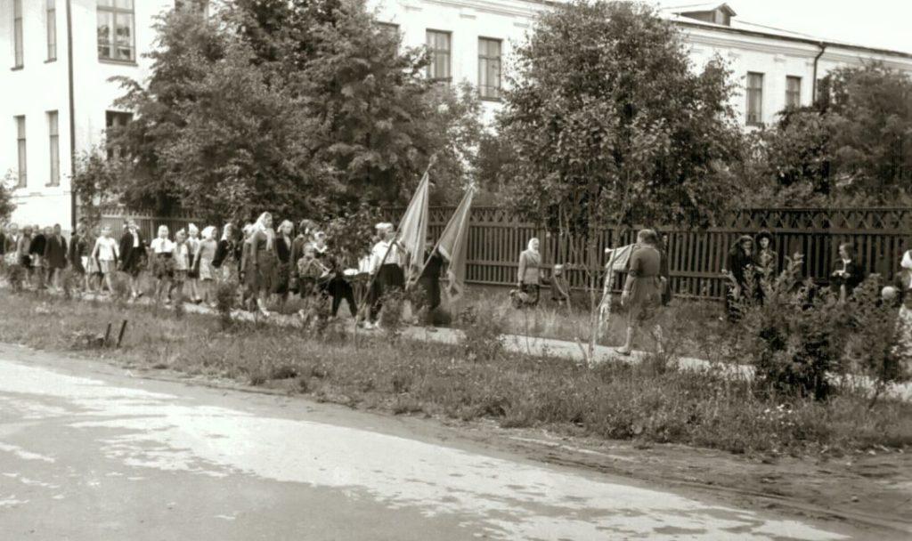 Детский парк в 1960-е годы имел ограждение