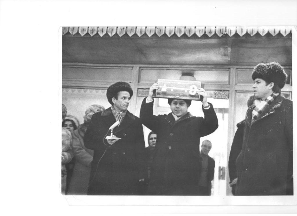 Фото середины 1970-х годов. Во время открытия главного корпуса современного курортного комплекса «Баден-Баден