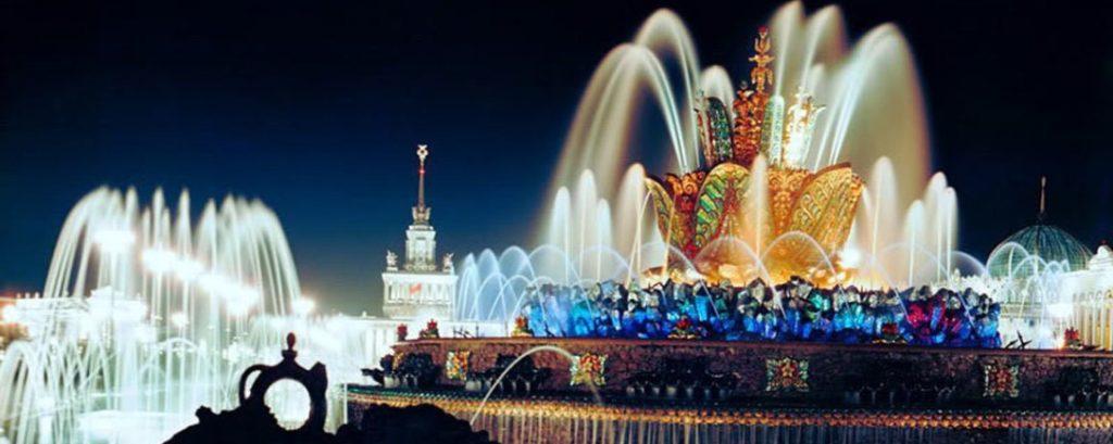 Фонтан «Каменный цветок» на ВДНХ в Москве