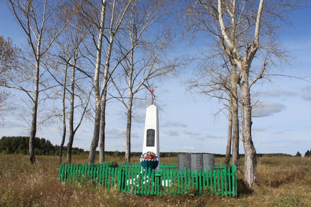 Памятник погибшим в годы Великой Отечественной войны в исчезнувшей деревне Новые Кривки