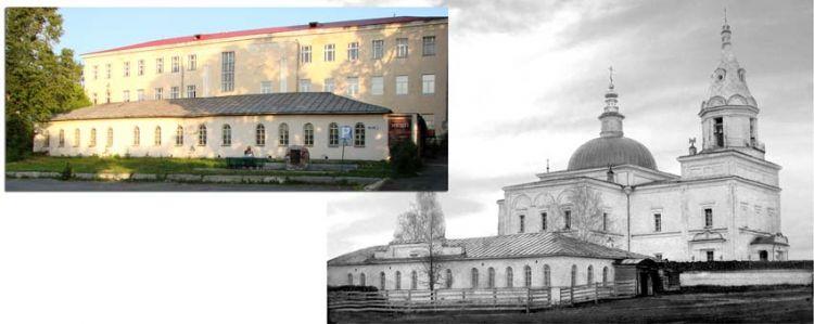 Богоявленский храм и церковно-приходская школа (земское училище) сто лет назад и сегодня