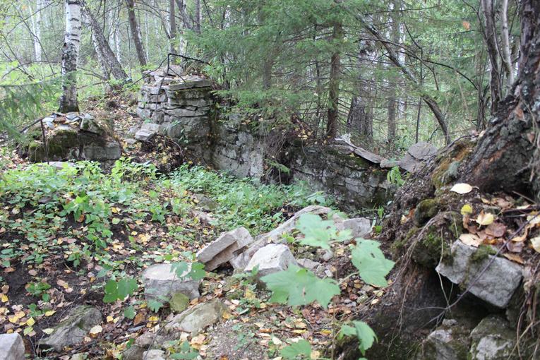 Остатки мельницы у Шайтан камня