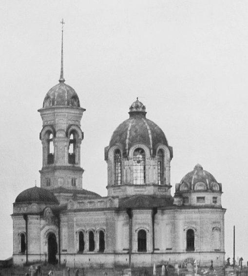Опусташенный храм Иоанна Предтечи в 1940-е годы