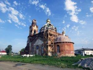 Храм Флора и Лавра в процессе реставрации. 2020 год