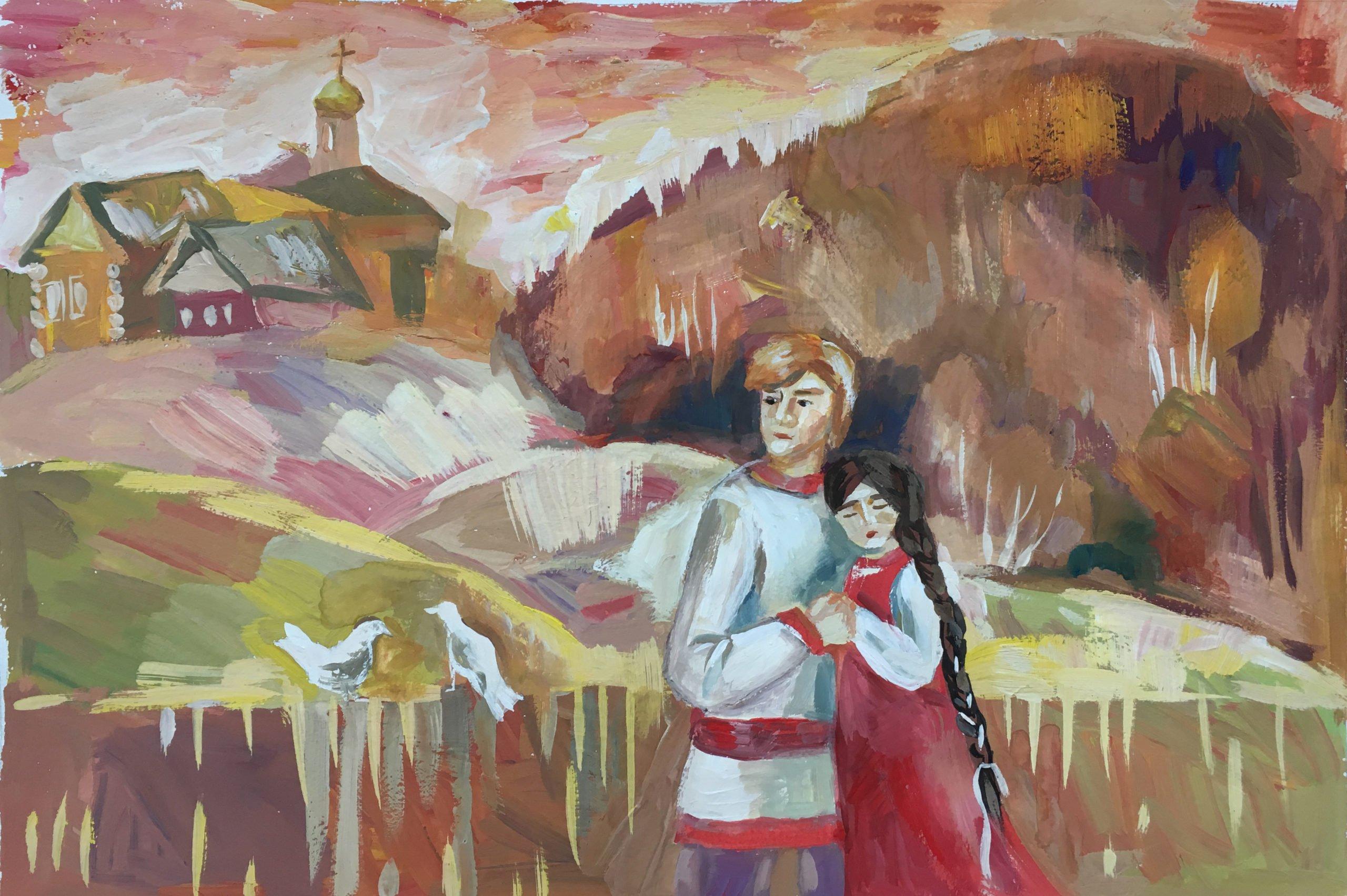 Работа Крохалевой Дарьи, ДШИ, 13 лет