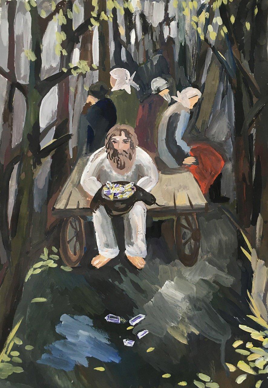Работа Гурьевой Анны, ДШИ, 12 лет
