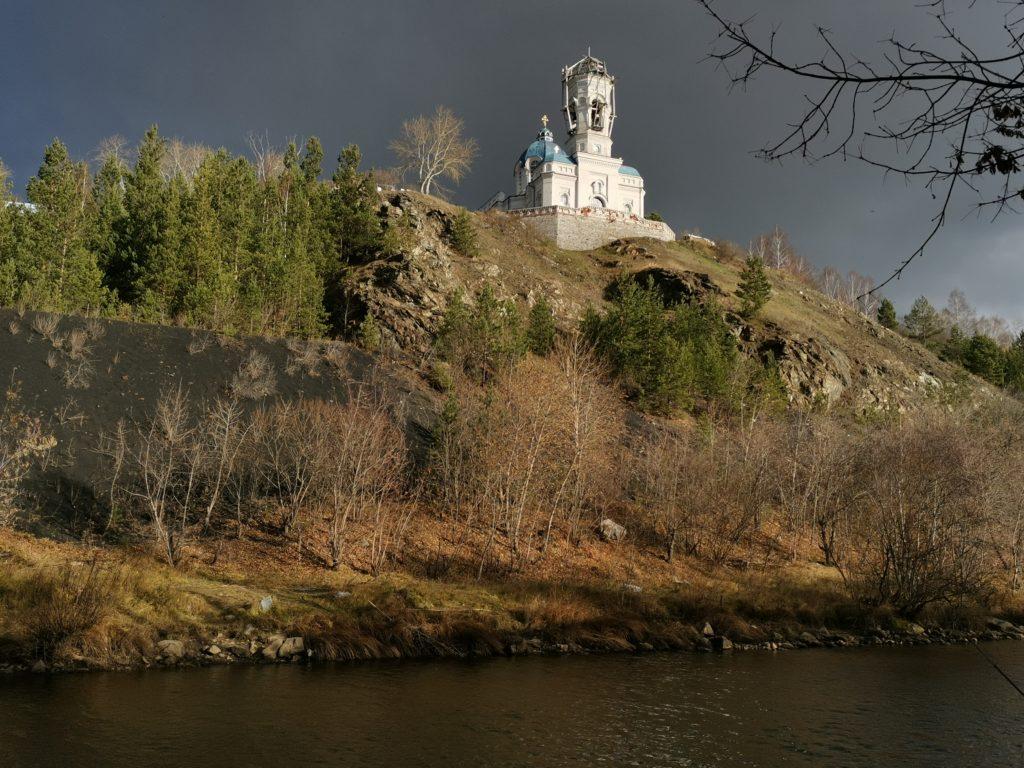 Нагорный храм в Реже во время реставрации, осень 2020 года