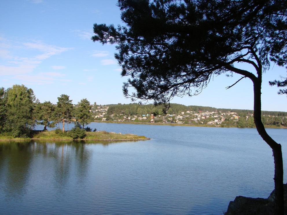 Устье реки Быстрой и Режевской пруд