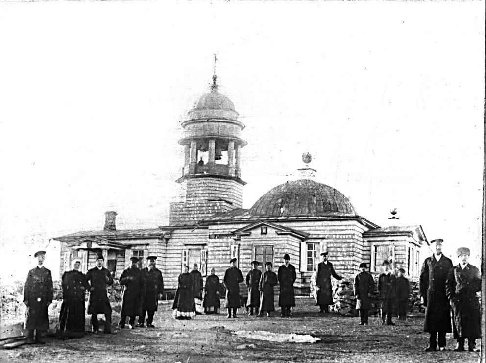 Деревянный храм Иоанна Предтечи на Орловой горе. Фото 1890 года