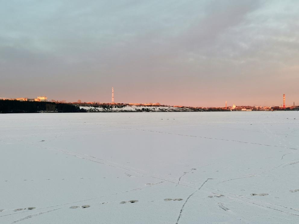 Зимой на Режевском пруду